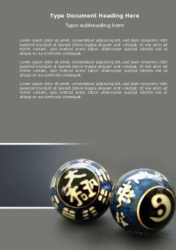 Chinese Therapy Balls Word Template, Cover Page, 04324, Medical — PoweredTemplate.com