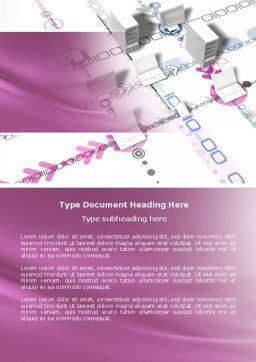 Multicomputer System Word Template, Cover Page, 04331, Telecommunication — PoweredTemplate.com