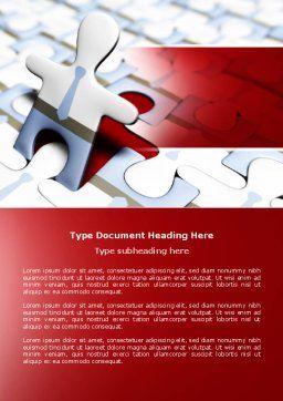 Jigsaw Man Word Template, Cover Page, 04332, Business — PoweredTemplate.com