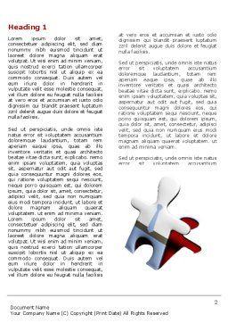 Jigsaw Man Word Template, First Inner Page, 04332, Business — PoweredTemplate.com