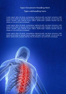 Osteoporosis Word Template, Cover Page, 04334, Medical — PoweredTemplate.com