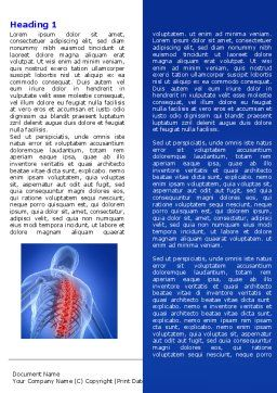 Osteoporosis Word Template, First Inner Page, 04334, Medical — PoweredTemplate.com