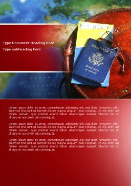 Travel Essentials Word Template Cover Page