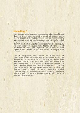 Self-actualization Word Template, Second Inner Page, 04337, Business Concepts — PoweredTemplate.com
