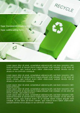 Recycling Technology Word Template Cover Page
