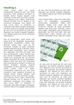 Recycling Technology Word Template, First Inner Page, 04339, Nature & Environment — PoweredTemplate.com