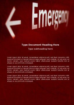 Emergency Sign Word Template, Cover Page, 04341, Business Concepts — PoweredTemplate.com