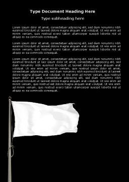 White Flag Word Template, Cover Page, 04343, Flags/International — PoweredTemplate.com