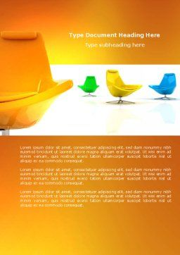 Comfortable Interior Word Template, Cover Page, 04344, Careers/Industry — PoweredTemplate.com