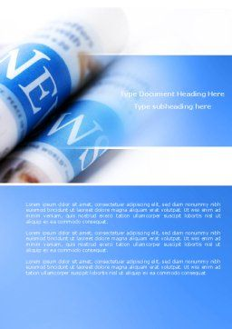 New Press Word Template, Cover Page, 04346, Careers/Industry — PoweredTemplate.com
