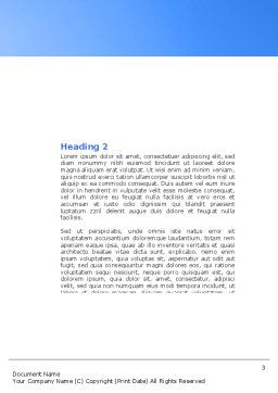 New Press Word Template, Second Inner Page, 04346, Careers/Industry — PoweredTemplate.com