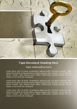 Key to Everything Word Template, Cover Page, 04347, Business Concepts — PoweredTemplate.com
