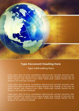 Troubled World Word Template, Cover Page, 04349, Global — PoweredTemplate.com
