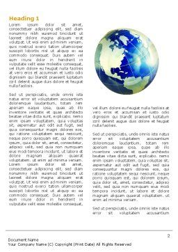 Troubled World Word Template, First Inner Page, 04349, Global — PoweredTemplate.com