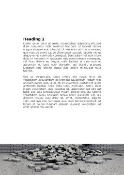 Broken Wall Word Template, Second Inner Page, 04351, Consulting — PoweredTemplate.com