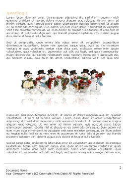 Snowmen Orchestra Word Template, First Inner Page, 04354, Holiday/Special Occasion — PoweredTemplate.com