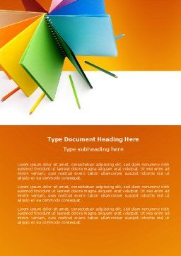 Color Paper Word Template, Cover Page, 04355, Business — PoweredTemplate.com