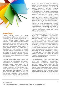 Color Paper Word Template, First Inner Page, 04355, Business — PoweredTemplate.com