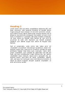 Color Paper Word Template, Second Inner Page, 04355, Business — PoweredTemplate.com