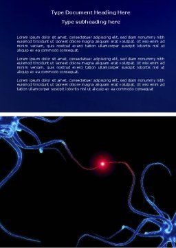 Communicating Neurons Word Template, Cover Page, 04356, Medical — PoweredTemplate.com