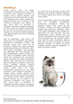 Cat and Fish Word Template, First Inner Page, 04357, Business Concepts — PoweredTemplate.com