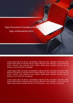 Lecture Room Word Template, Cover Page, 04361, Education & Training — PoweredTemplate.com