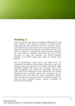 Recycling Circle Word Template, Second Inner Page, 04362, Business Concepts — PoweredTemplate.com
