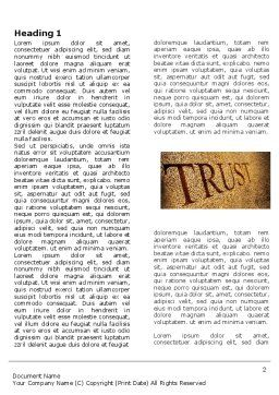 Trust Word Template, First Inner Page, 04364, Financial/Accounting — PoweredTemplate.com