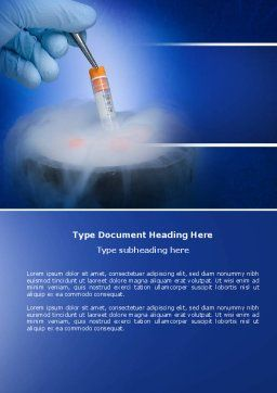 Cryopreservation Word Template, Cover Page, 04367, Medical — PoweredTemplate.com