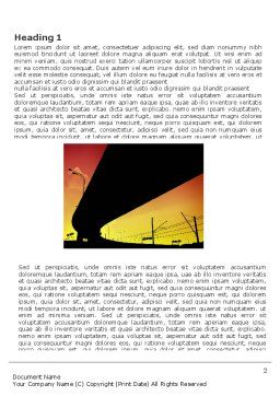 Sunset Overpass On A Highway Word Template, First Inner Page, 04368, Construction — PoweredTemplate.com
