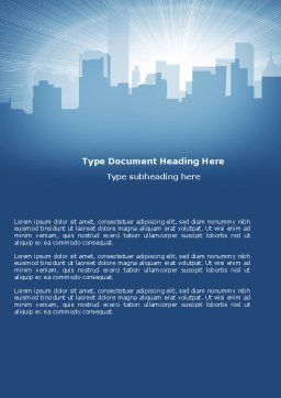 City Scenery Word Template, Cover Page, 04370, Business — PoweredTemplate.com