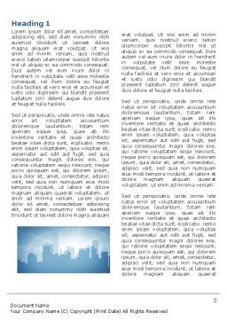 City Scenery Word Template, First Inner Page, 04370, Business — PoweredTemplate.com