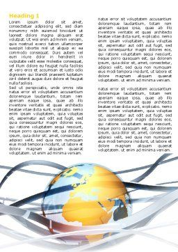 World Global Tendencies Word Template First Inner Page