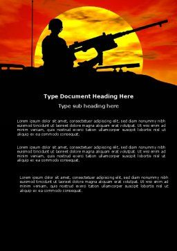 Military Actions Word Template, Cover Page, 04377, Military — PoweredTemplate.com