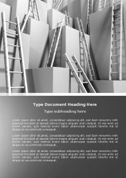 Ladders Word Template, Cover Page, 04379, Consulting — PoweredTemplate.com