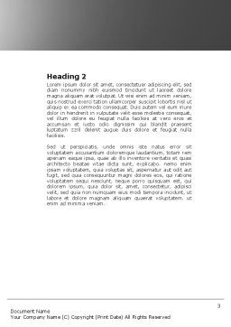 Ladders Word Template, Second Inner Page, 04379, Consulting — PoweredTemplate.com