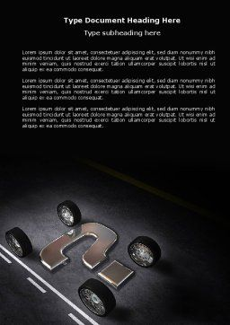 New Automobile Inventions Word Template, Cover Page, 04382, Careers/Industry — PoweredTemplate.com