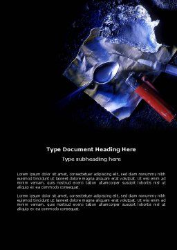 Cocaine Word Template, Cover Page, 04384, Medical — PoweredTemplate.com