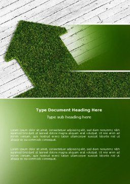 Green Lawn Word Template Cover Page