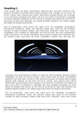 Dark Tunnel Word Template, First Inner Page, 04389, Construction — PoweredTemplate.com