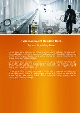 Terminal Word Template, Cover Page, 04390, Cars/Transportation — PoweredTemplate.com