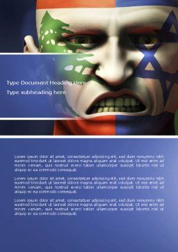 Arab-Israeli Hate Word Template, Cover Page, 04392, Military — PoweredTemplate.com