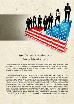Social Hierarchy Word Template, Cover Page, 04393, America — PoweredTemplate.com