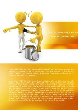 Repainting Man Word Template, Cover Page, 04394, Business Concepts — PoweredTemplate.com