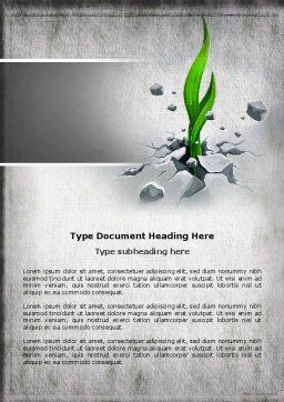 Survival Word Template, Cover Page, 04395, Nature & Environment — PoweredTemplate.com