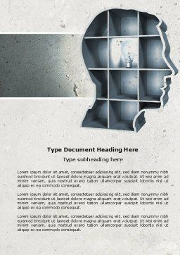 Corner of Mind Word Template, Cover Page, 04398, Education & Training — PoweredTemplate.com