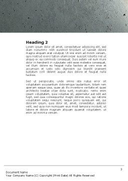 Corner of Mind Word Template, Second Inner Page, 04398, Education & Training — PoweredTemplate.com