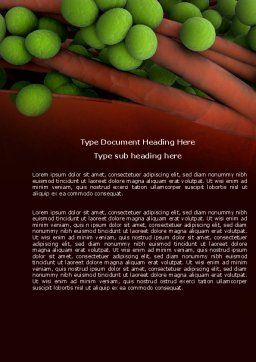 Staphylococcus Word Template, Cover Page, 04401, Medical — PoweredTemplate.com
