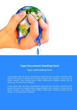 Resource Depletion Word Template, Cover Page, 04406, Global — PoweredTemplate.com