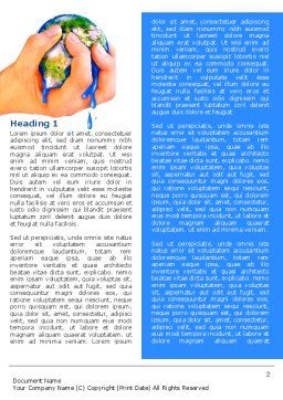 Resource Depletion Word Template First Inner Page